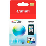 Canon® 2975B001 (CL-211XL) High-Yield Ink, 349 Page-Yield, Tri-Color