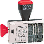 2000 PLUS® Dial-N-Stamp, 12 Phrases, 1 1/2 x 1/8