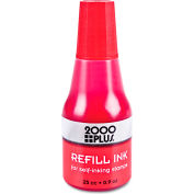 2000 PLUS® 2000 PLUS Self-Inking Refill Ink, Red, .9 oz. Bottle