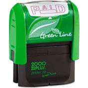 2000 PLUS® 2000 PLUS Green Line Message Stamp, Paid, 1 1/2 x 9/16, Red