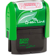 2000 PLUS® 2000 PLUS Green Line Message Stamp, Received, 1 1/2 x 9/16, Red