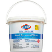 "Clorox® Healthcare® Bleach Germicidal Wipe Bucket, 12"" x 12"", 110 Wipes/Bucket - 30358"