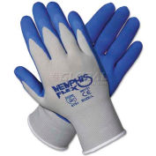 Memphis 96731M Memphis Flex Seamless Nylon Knit Gloves, Medium, Blue/Gray, 1 Pair