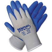 Memphis 96731S Memphis Flex Seamless Nylon Knit Gloves, Small, Blue/Gray, 1 Pair