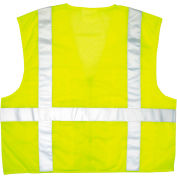River City™ CL2LCM Luminator Safety Vest, Lime Green w/Stripe, Medium