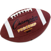 """Champion Sports CF100 Pro Composite Football, Official Size, 22"""", Brown"""