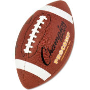 "Champion Sports CF200 Pro Composite Football, Intermediate Size, 21"", Brown"