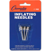 Champion Sports INB Nickel-Plated Inflating Needles for Electric Inflating Pump, 3 Needles/Pack