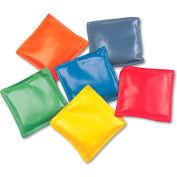 "Champion Sports MBB4SET Bean Bag Set, Vinyl, 4"", Assorted Colors, 6/Set"