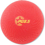 "Champion Sports PG85 Playground Ball, 8-1/2"", Red"