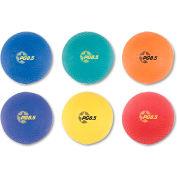 Champion Sports PGSET Playground Ball Set, Nylon, Assorted Colors, 6/Set