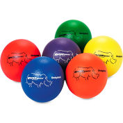 Champion Sports RXD6SET Dodge Ball Set, Rhino Skin, Assorted Colors, 6 Balls/Set