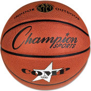 "Champion Sports SB1030 Composite Basketball, Official Intermediate, 29"", Brown"