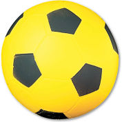 Champion Sports SFC Coated Foam Sport Ball, For Soccer, Playground Size, Yellow