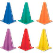 Champion Sports TC9SET Indoor/Outdoor Flexible Cone Set, Vinyl, Assorted Colors, 6/Set