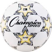 Champion Sports VIPER3 VIPER Soccer Ball, Size 3, White