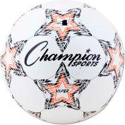 Champion Sports VIPER4 VIPER Soccer Ball, Size 4, White
