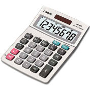 Casio® MS-80S Tax and Currency Calculator, 8-Digit LCD