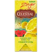 Celestial Seasonings Caffeine-Free Herbal Tea, Lemon Zinger, Single Cup Bags, 25/Box
