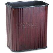 Advantus® CW09853 Rectangular Hardwood Wastebasket, 17 qt, Mahogany Stain
