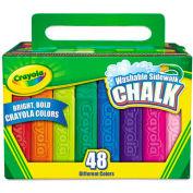 Crayola® Washable Sidewalk Chalk, 48 Assorted Bright Colors, 48 Sticks/Set