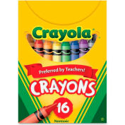 Crayola 520016 Classic Color Pack Crayons, Tuck Box, 16 Colors/Box