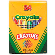 Crayola 520024 Classic Color Pack Crayons, Tuck Box, 24/Box