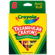 Crayola 524008 Triangular Crayons, 8 Colors/Box