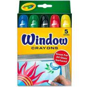 Crayola 529765 Washable Window Crayons, 5/Set