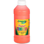 Crayola 541216036 Premier Tempera Paint, Orange, 16 oz