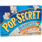 Pop Secret Premium Microwave Popcorn, Homestyle, 3.5 Oz, 3/Box