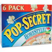 Pop Secret Premium Microwave Popcorn, Homestyle, 3.5 Oz, 6/Box
