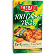Emerald 100 Calorie Pack Almonds, Dry Roasted, 0.63 Oz, 7/Box