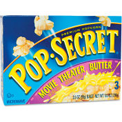 Pop Secret Microwave Popcorn, Movie Theater Butter, 3.5 Oz, 3/Box