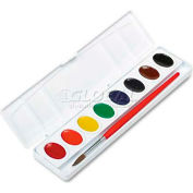 Prang 800 Professional Watercolors, 8 Assorted Colors,Oval Pans