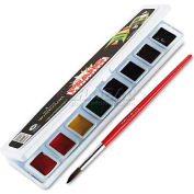 Prang 8000 Professional Watercolors, 8 Assorted Colors,Half Pans