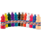 Prang 21696 Ready-to-Use Tempera Paint, 12 Assorted Colors, 16 oz, 12/Pack