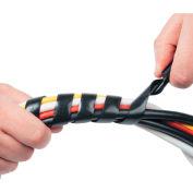 """D-Line® Cable Tidy Wrap, 1/4"""" - 2"""" Diameter x 98"""" Long, Black"""