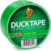 """Duck® Colored Duct Tape, 1.88""""W x 15 yds - 3"""" Core - Neon Green"""