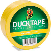 "Duck® Colored Duct Tape, 1.88""W x 20 yds - 3"" Core - Yellow"