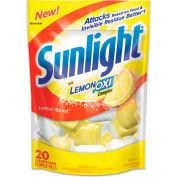 Sunlight® Auto Dish Power Pacs Lemon, 20 1.5oz Packets/Bag 6/Case - DVOCB711021CT