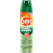 OFF® Deep Woods Dry Insect Repellent, 25% DEET, 4 oz. Aerosol Spray, 12 Cans - 616304