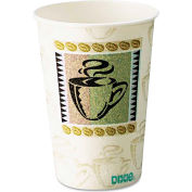 Dixie® Hot Cups, Paper, 10 oz., Coffee Dreams Design, 25/Pack