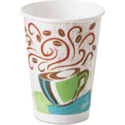 Dixie® Hot Cups, Paper, 12 oz., Coffee Dreams Design, 50/Pack