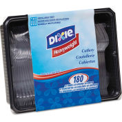Dixie® Tray w/Heavyweight Crystal Plastic Tableware, 1800/Carton