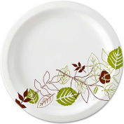 "Dixie® SXP10PATH, Pathways Paper Plates, 10-1/16"" Dia., Green/Burg/Wht, 500/Carton"