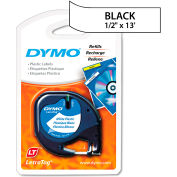"DYMO® LetraTag Plastic Label Tape Cassette, 1/2"" x 13ft, White"