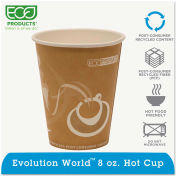 Eco-Products® Evolution World 24% PCF Hot Drink Cups, 8 oz., Peach, 1000/Carton