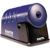 """X-ACTO® Powerhouse Office Electric Pencil Sharpener, AC-Powered, 3"""" x 6.25"""" x 4.5"""", Blue"""