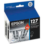 Epson® T127120D2 (127) Extra High-Yield Ink, Black, 2/Pack